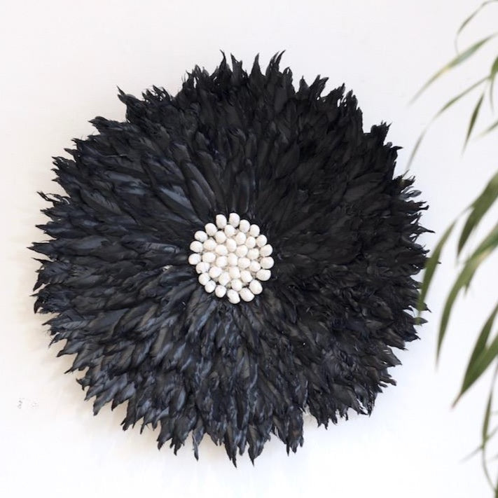 Feather Wall Hanging || - Black
