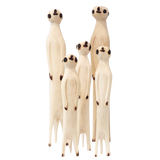 Hand Carved Meerkats