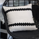 Mali Mud Cloth Cushion - White II