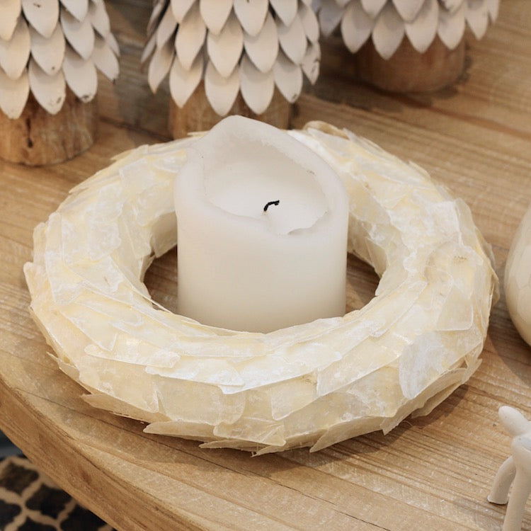 Capiz Shell Wreath