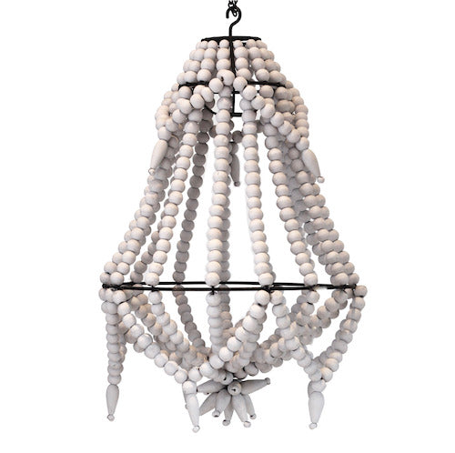 Beaded Chandelier - X Small - White
