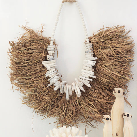 Leila Seagrass Driftwood Necklace PREORDER