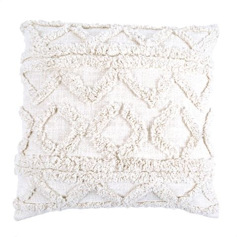 Jamila Tufted Cushion - White