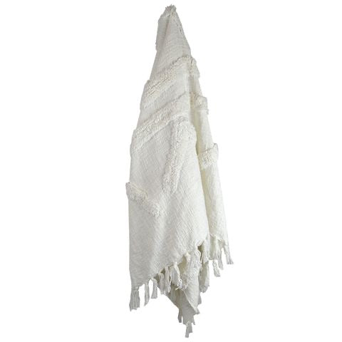 Jamila Cotton Throw - White