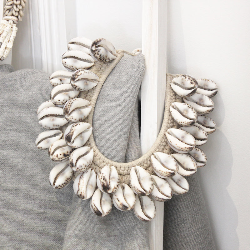 Cowrie Shell Neckpiece - Natural