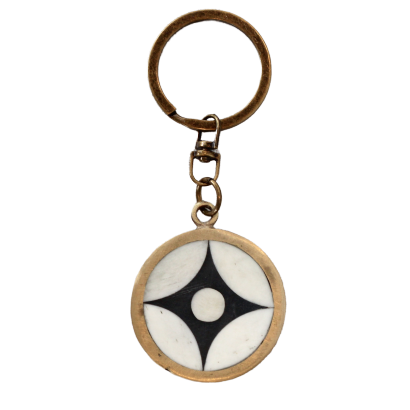 Bone Inlay Keyring