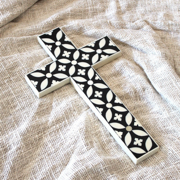 Bone Inlay Cross - Small