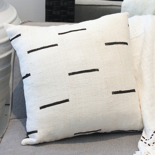 Mali Mud Cloth Cushion - Ivory II