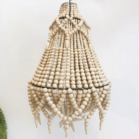 Beaded Chandelier - Small & Large- Natural