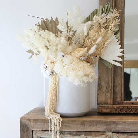 Large Dried Floral Arrangement