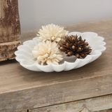 Indian Marble Lotus Plates - Large