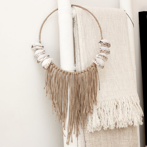 Cowrie Shell Wall Hanging - Natural