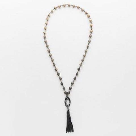Klaylife Mhambi Necklace - Grey Ombre