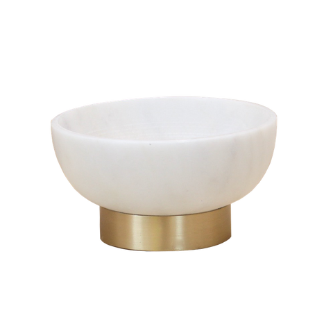 Marble & Brass Bowl