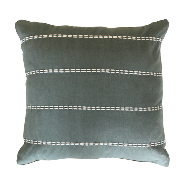 Olive Cotton Cushion
