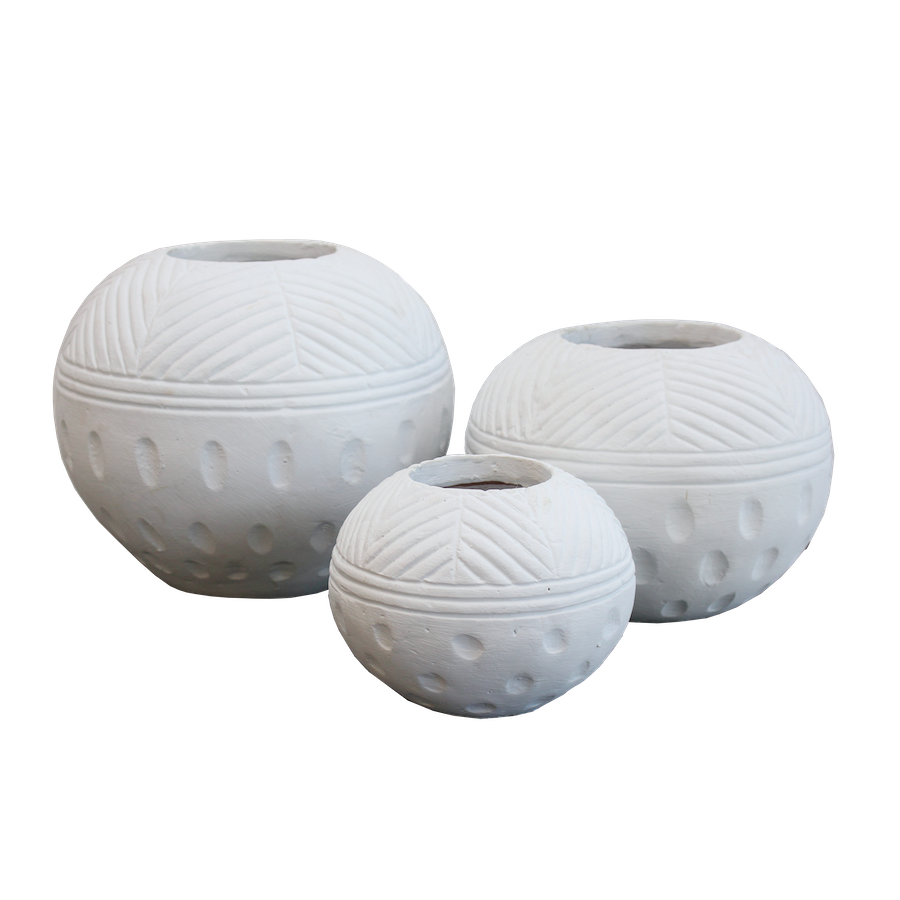 Praya Pots - White