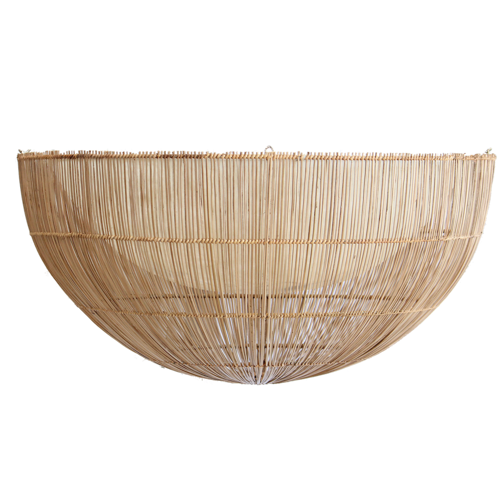 Rattan Flush Mount Light Shade