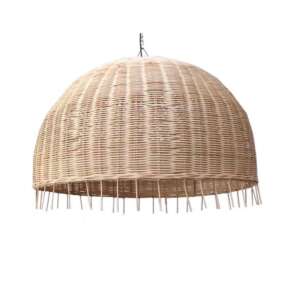 Rattan Pendant - Natural Large