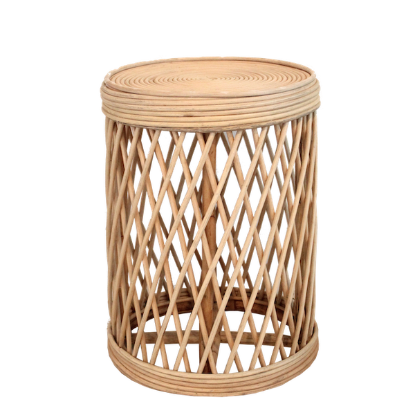 Rattan Side Table - Natural