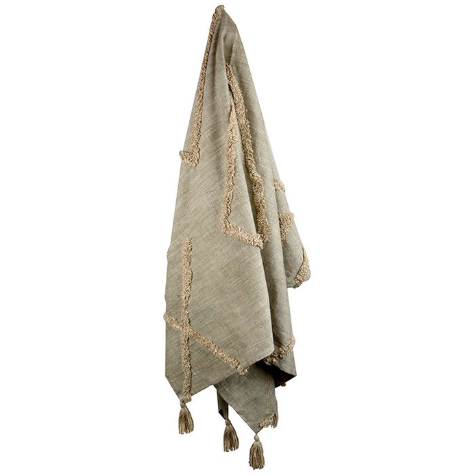Isha Tufted Throw - Taupe
