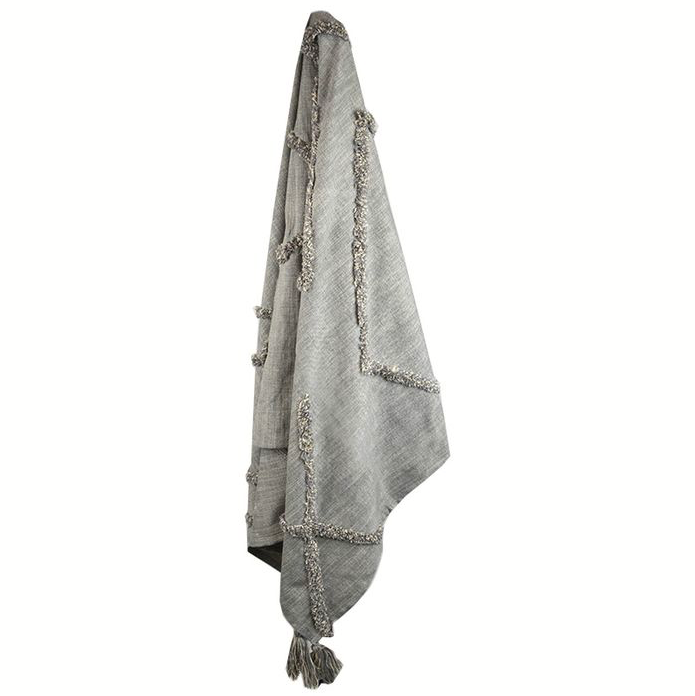 Isha Tufted Throw - Grey