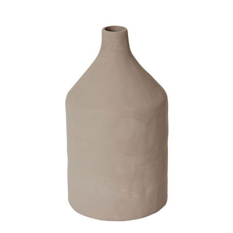 Imani Textured Bottle Vase - Taupe
