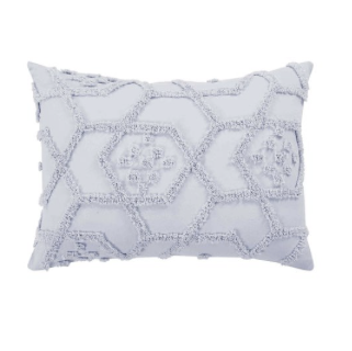 Delani Tufted Pillowcase Set - Light Grey