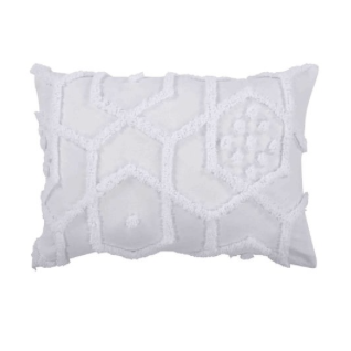 Delani Tufted Pillowcase Set - White