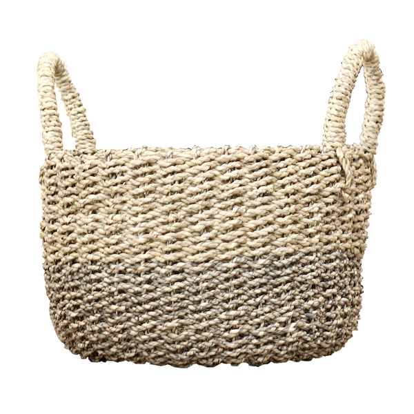 Seagrass Basket - Natural / Olive