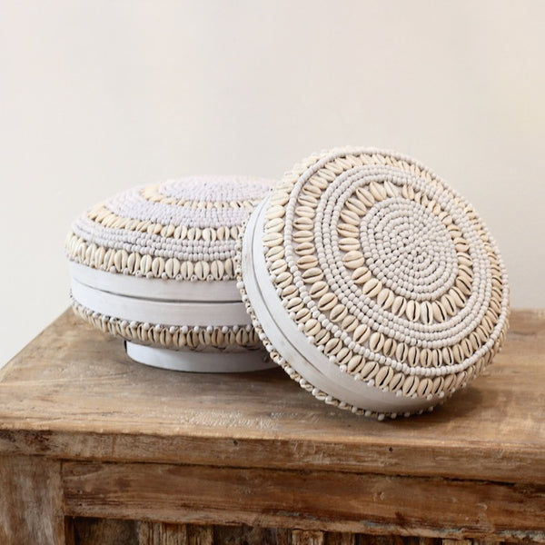 Shell Baskets - White