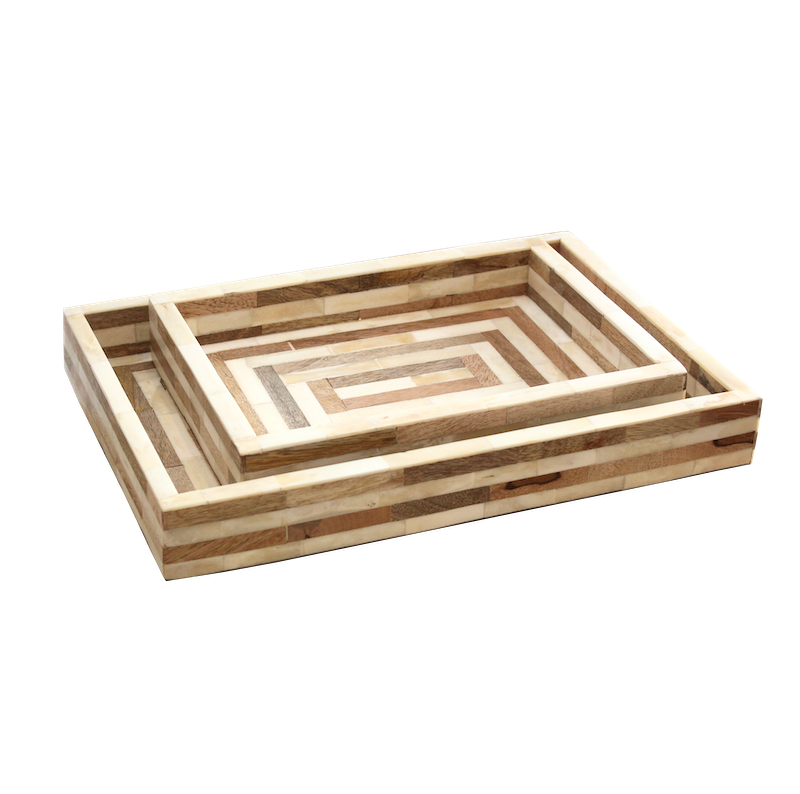 Wooden Bone Inlay Trays