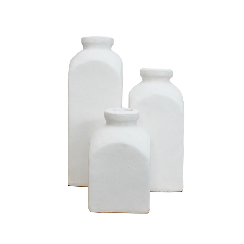 Terracotta Bottles - White