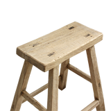 Antique Elm Workers Stool