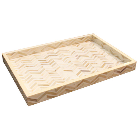 Bone Inlay Tray - Natural Arrows