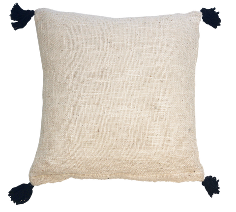 Cotton Tassel Cushion Cover
