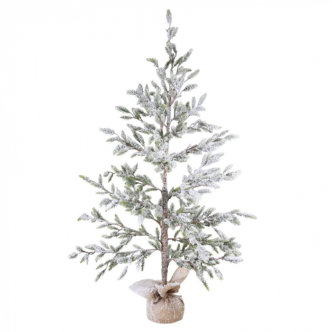 Burlap Frosted Xmas Tree