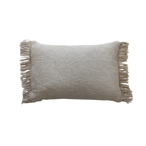 Fringe Cushion - Taupe