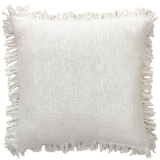 Fringe Cushion - White