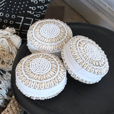 Mini Shell Baskets - White