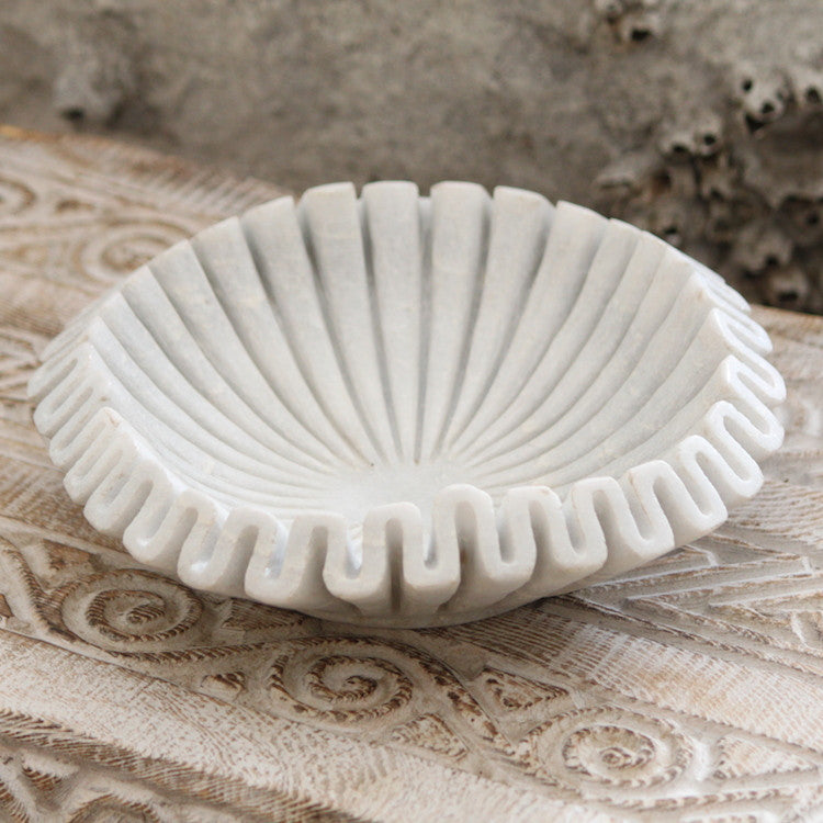 Marble Fluted Bowl