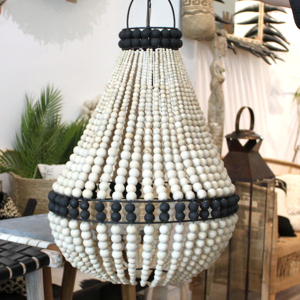 Contrast Beaded Chandelier
