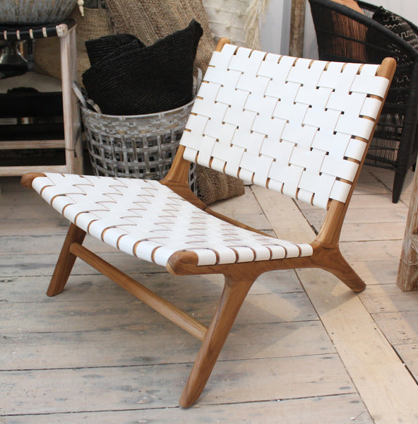 Leather Strapping Lounge Chair