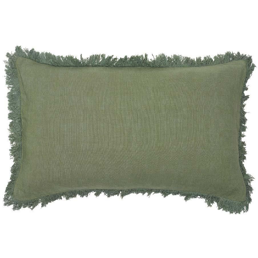 Luca Boho Rectangle Cushion - Sage