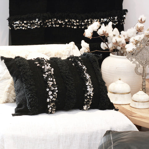 Moroccan Cushion w/ Sequins