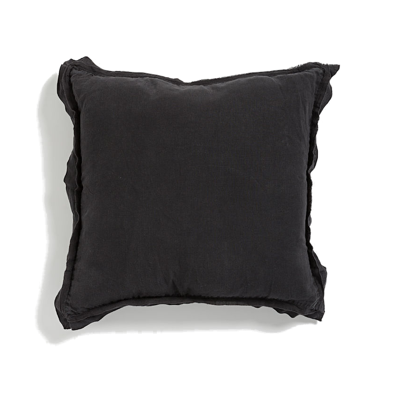Kip Linen Cushion - Black