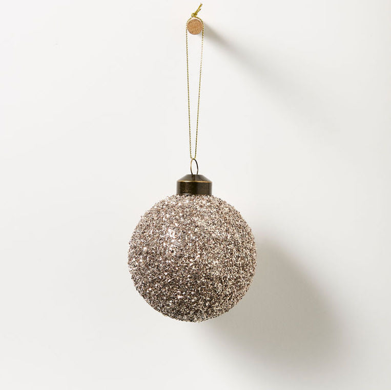 Champagne Bauble Xmas Tree Decoration