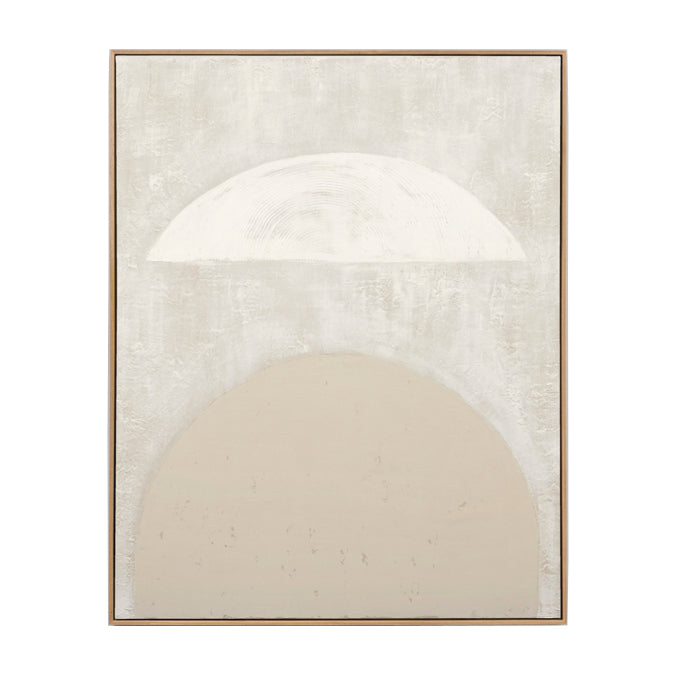 Sculpture White Framed Painting