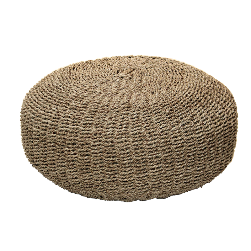 Seagrass Pouffe - Natural - PREORDER