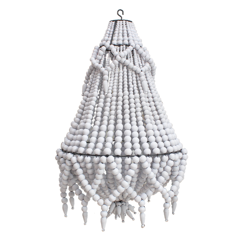 Beaded Chandelier - Small - White