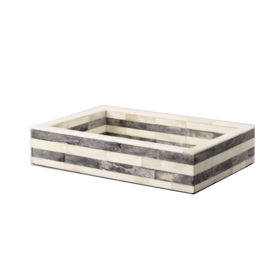 Bone Inlay Tray - Grey